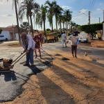 """Prefeitura de Jaborandi realiza em tempo record a operação """"tapa buracos"""" em vias urbanas"""